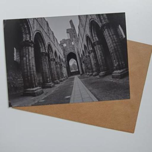 Kirkstall Abbey arches art card