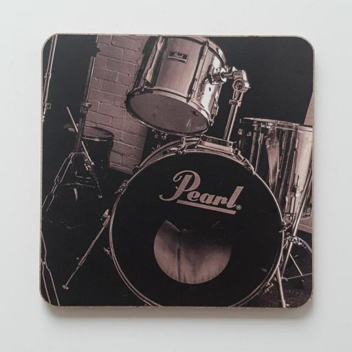 Drums coaster mono