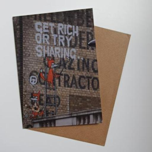 Get Rich Camden Town Art Card
