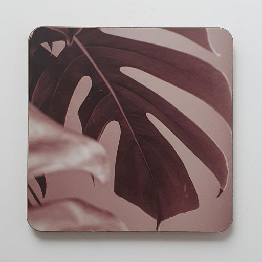 Monstera Pink coaster