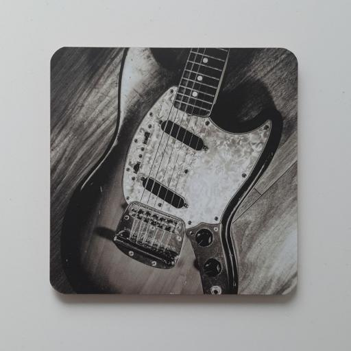 Fender Mustang guitar coaster