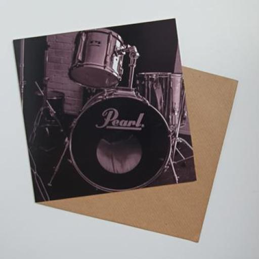 Pearl Drums Art card