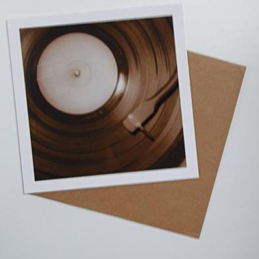 Vinyl Brown art card