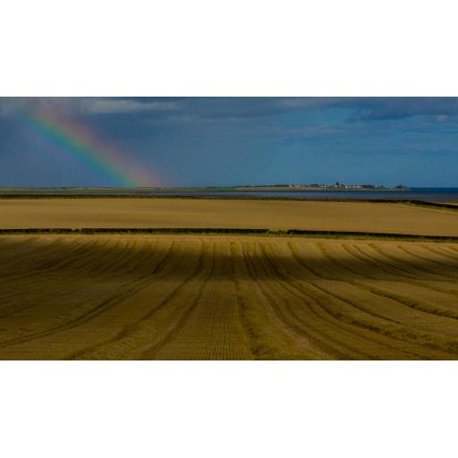 Rainbow over Holy Island from Beal