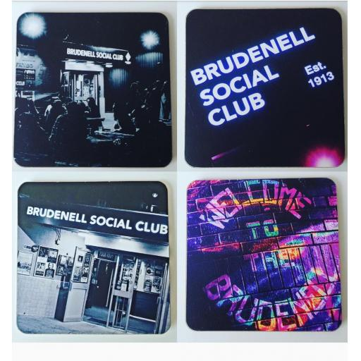 Brudenell Social Club coaster set