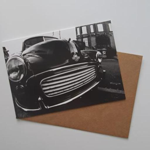 Morris minor 32 art card