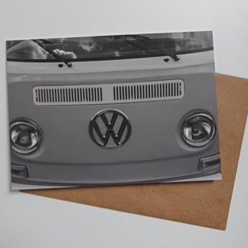 VW Camper Screen art card