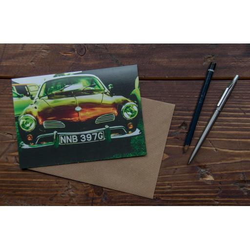VW Karmann Ghia art card