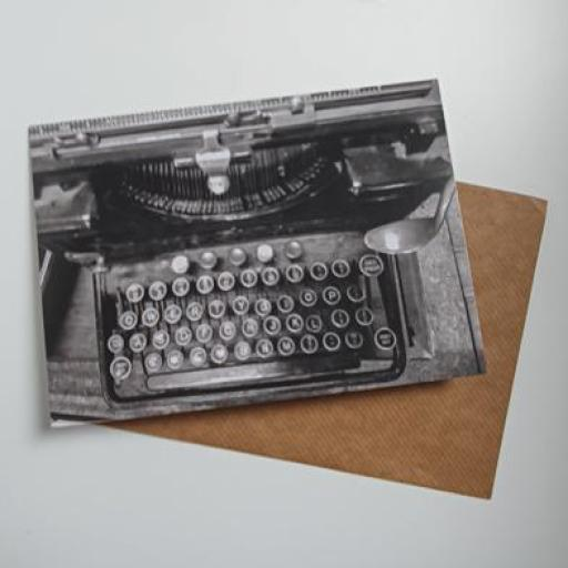 Retro Typewriter art card
