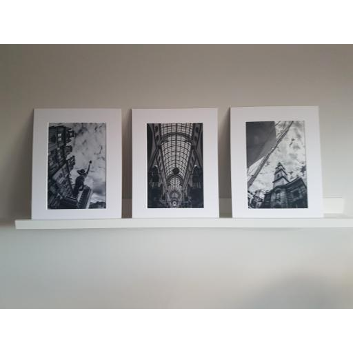Set of 3 Leeds Prints - Leeds City Square, Thorntons Arcade, Trinity Church