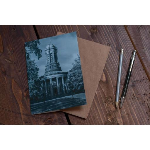 Saltaire Church Blue art card