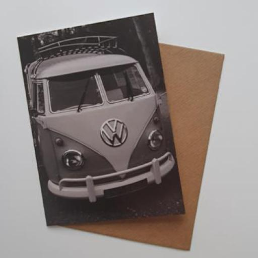 Vw Camper van art card