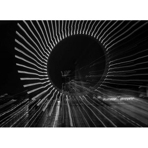 London Eye Abstract Black print