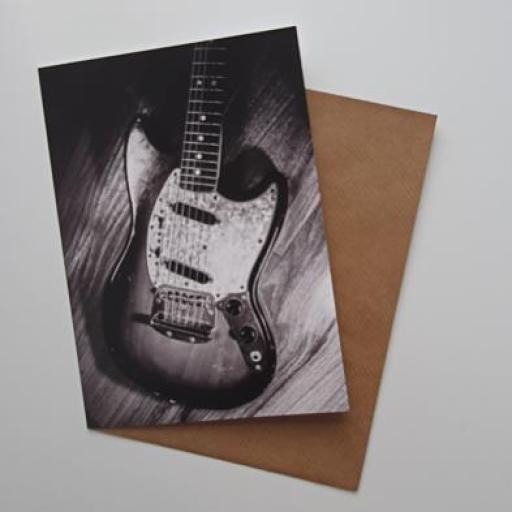 Fender 1972 Mustang guitar art card