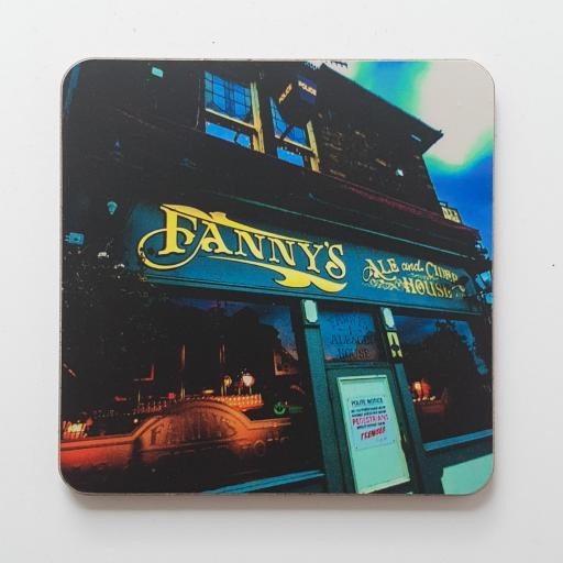 Fanny's Ale House coaster colour