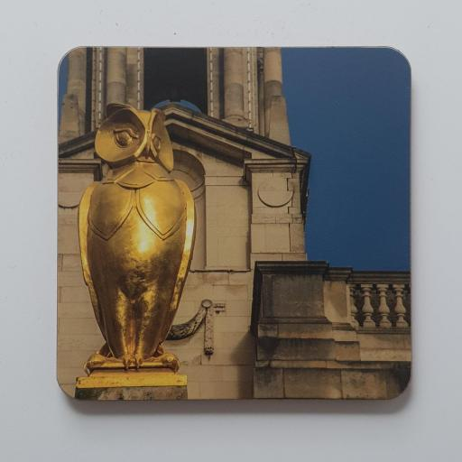 Owl coaster, Leeds Civic Hall