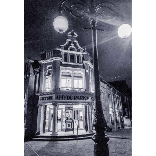 Hyde Park Picture House monochrome print