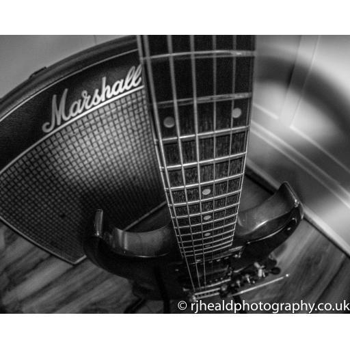 Marshall Amp / Gibson print