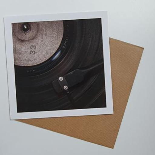 Vinyl Art card Black
