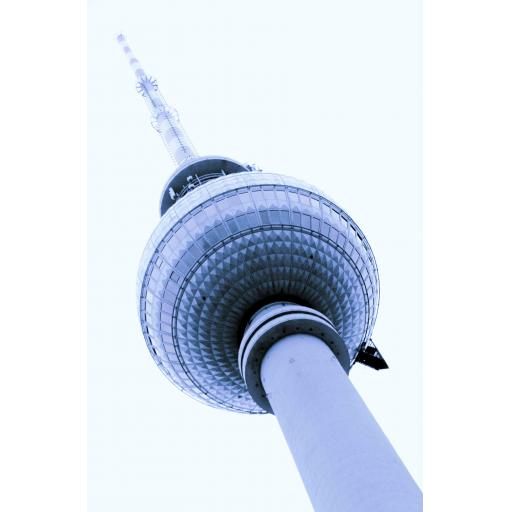 Berlin Tv Tower Abstract Print