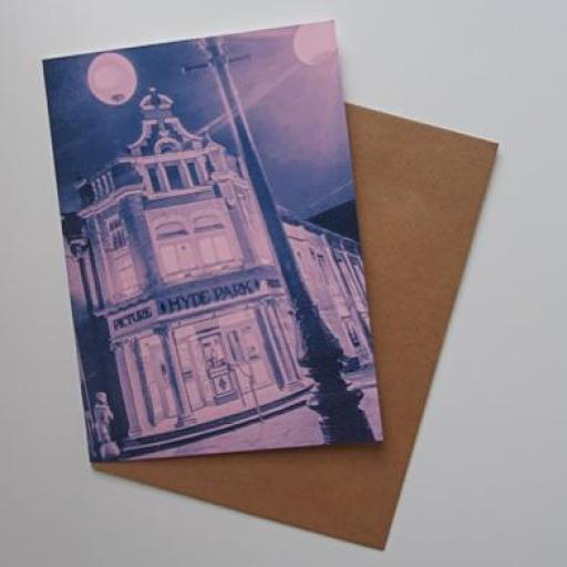 Hyde Park Picture House Pink Art card