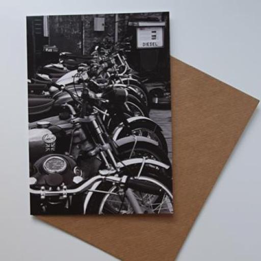 Bikes Art Card