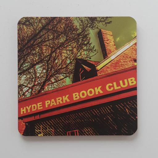 Hyde Park Book club coaster colour