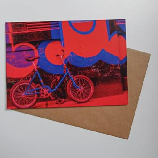 Retro Bike red, Shoreditch card