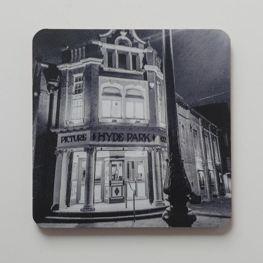 Hyde Park picture house coaster