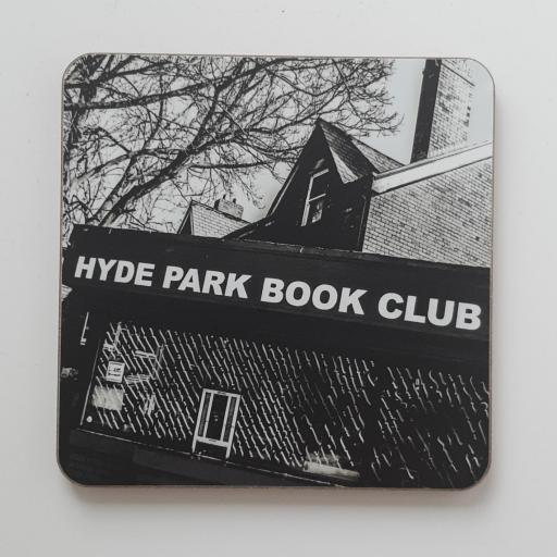 Hyde Park book club monochrome coaster