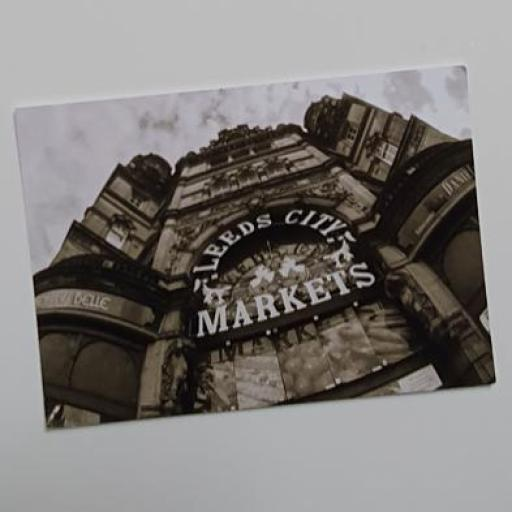 Leeds City Markets postcard