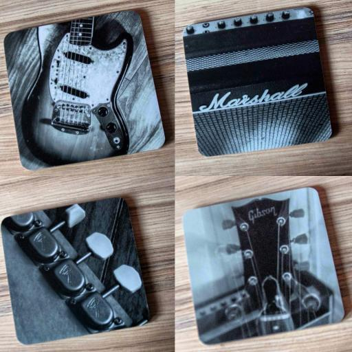 Guitar coaster music set