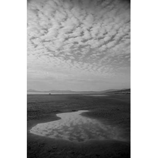 Harlech Beach Reflection print