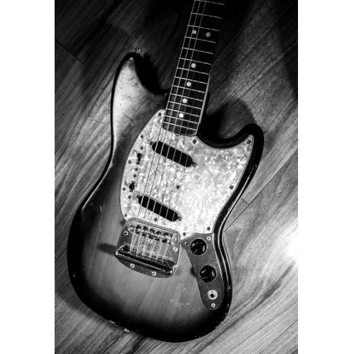 Fender 1972 Mustang guitar Art print