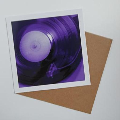 Vinyl Purple Art card