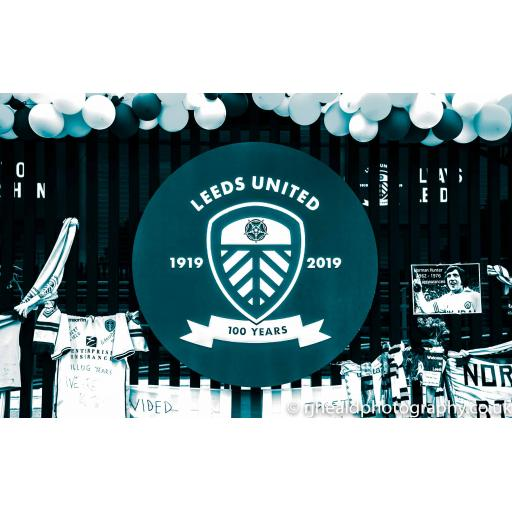 Leeds united 100 years art print