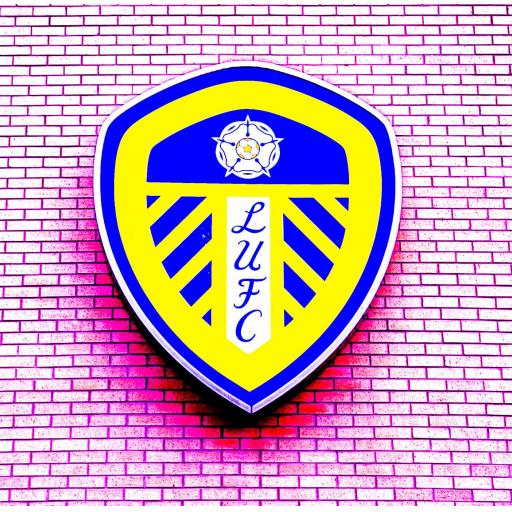 LUFC - Leeds United Art print badge pink