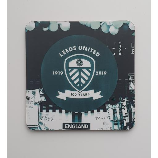 Lufc coaster 3 - 100 year Centenary coaster Blue