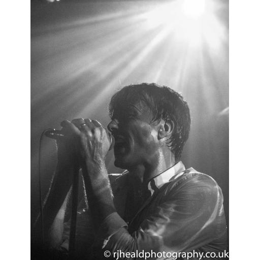 Brett Anderson close up, Suede at the Brudenell