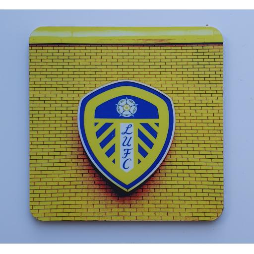 Lufc coaster 6 - Badge yellow coaster