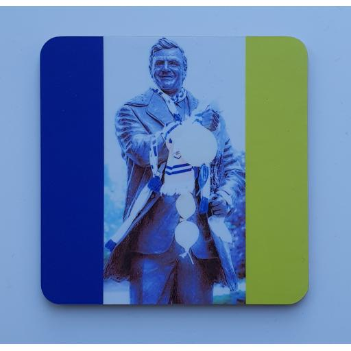 Lufc coaster 8 - Don Revie flag coaster