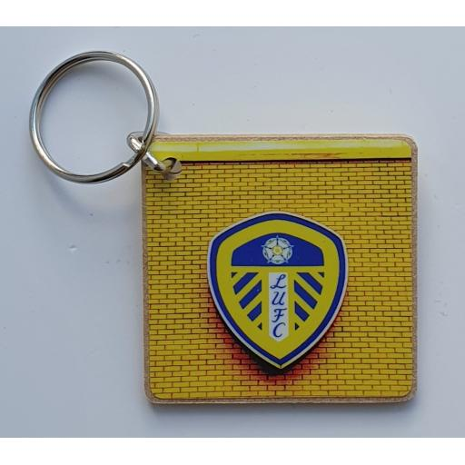 Leeds United Badge Keyring Yellow
