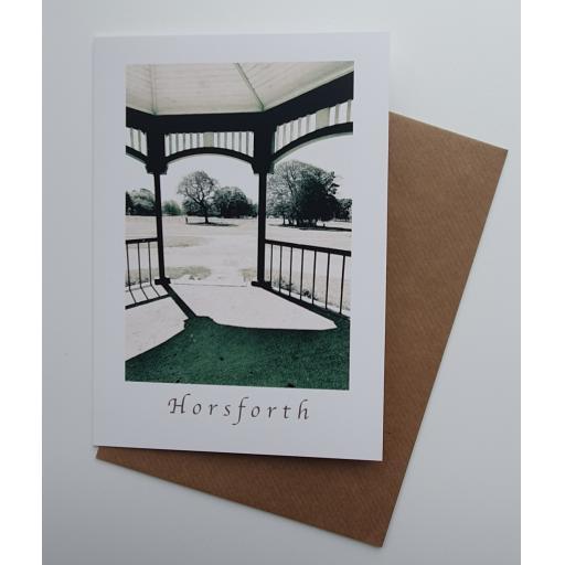 Horsforth Bandstand art card