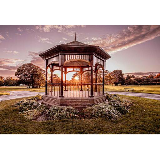 Horsforth Hall Park Bandstand sunset