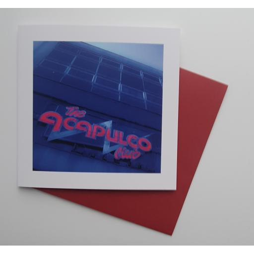 Acapulco Blue and Red Halifax art card