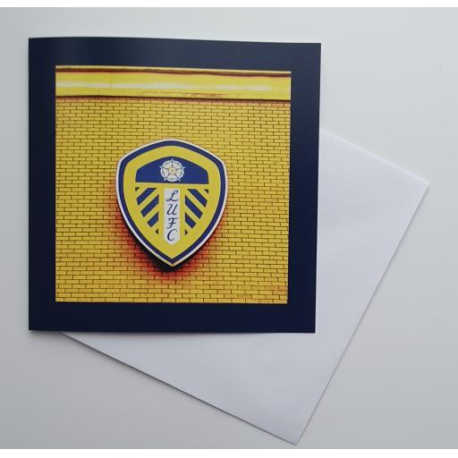 Leeds United badge Yellow art card