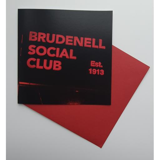 Brudenell Social Club Red art card