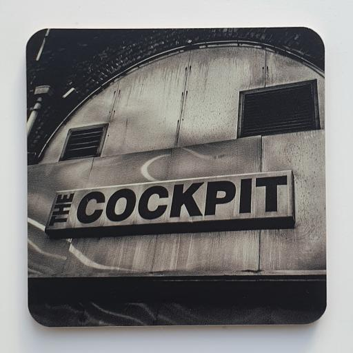 Leeds Cockpit Mpnochrome coaster