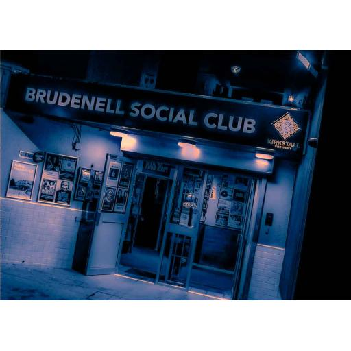 Brudenell Social Club art print Blue