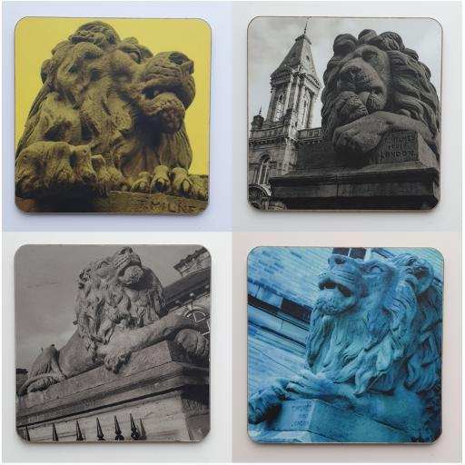 Saltaire Lion coaster set